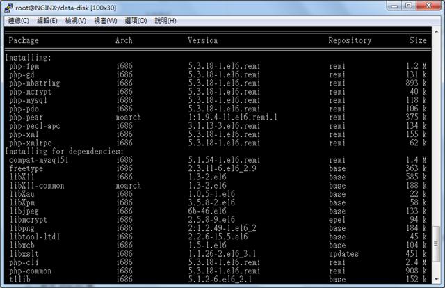 yum install php-fpm